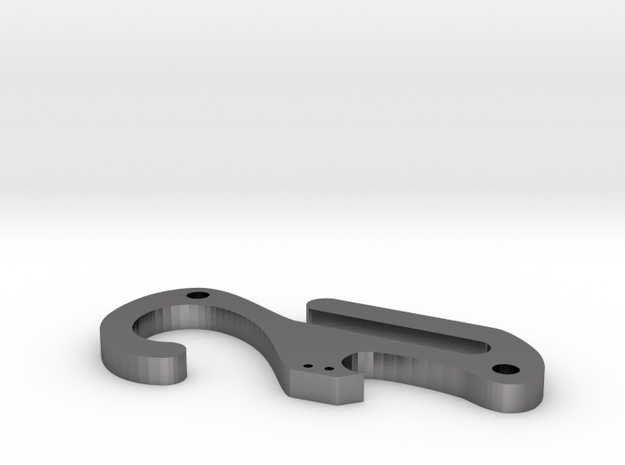Pocket dangler carabiner keychain with bottle open 3d printed