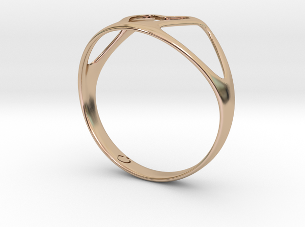 Open Heart Ring in 14k Rose Gold Plated