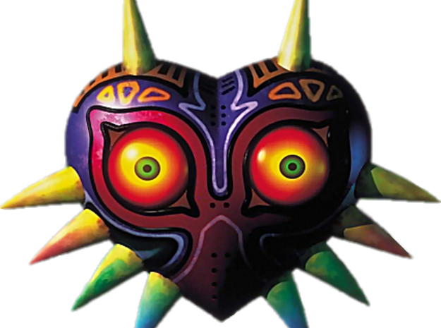 Majora's Mask in White Natural Versatile Plastic