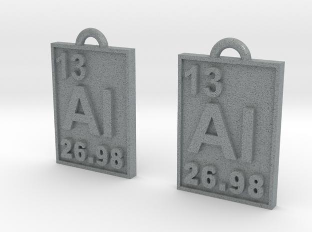 Aluminum Periodic Table Earrings 3d printed