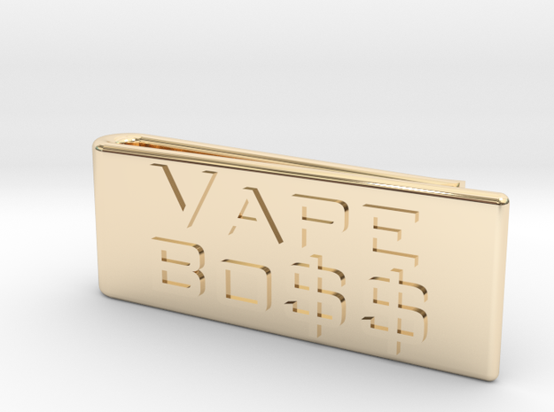 Vape Boss Money Clip in 14K Gold