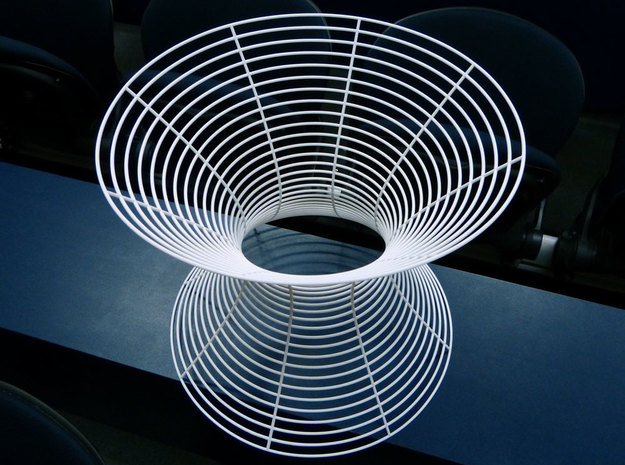 Hyperboloid of one sheet in White Natural Versatile Plastic