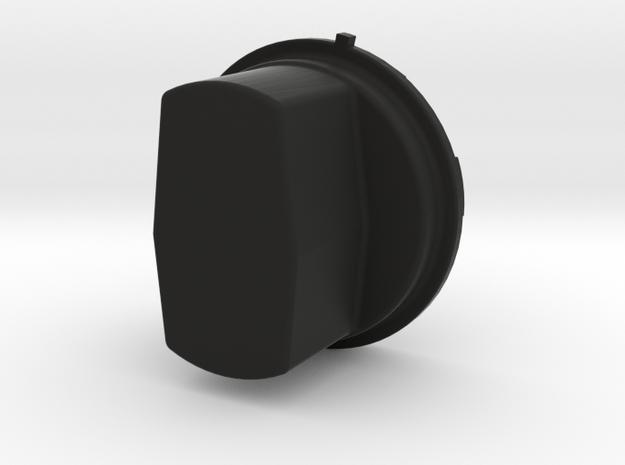 One Extended Silverado headlight cap in Black Natural Versatile Plastic