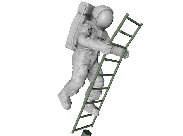 Apollo 11 / Ladder Position  in White Strong & Flexible: 1:24