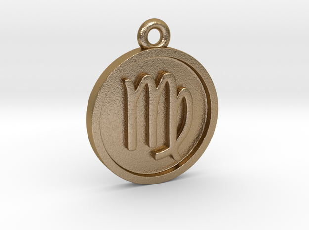 Virgo/Jungfrau Pendant in Polished Gold Steel