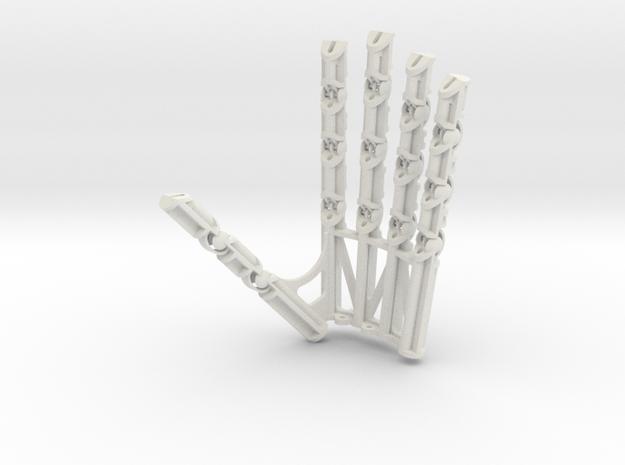 Small Robot Hand Left in White Natural Versatile Plastic