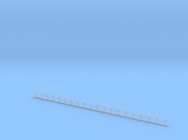 Stabblaulichter ohne Chromringe in Smooth Fine Detail Plastic