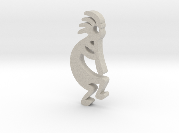 Kokopelli Key Fob in Natural Sandstone
