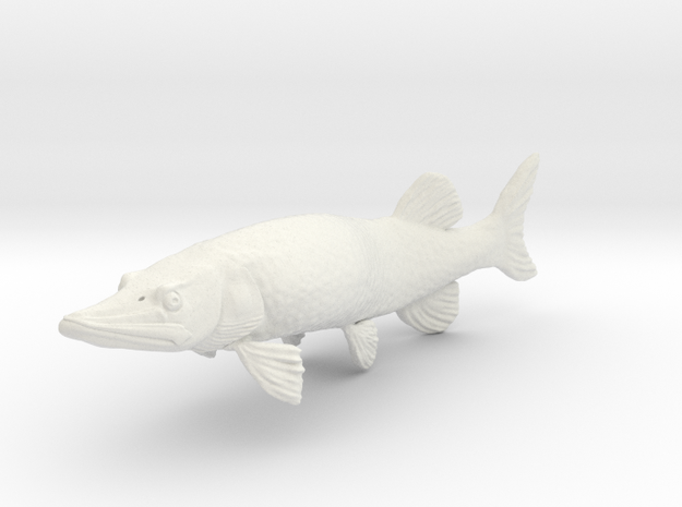 Muskie in White Natural Versatile Plastic
