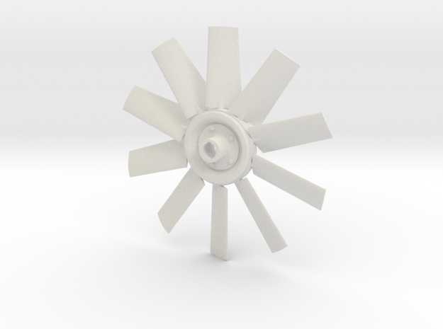 Fan 4.5 for electric motor model in White Strong & Flexible