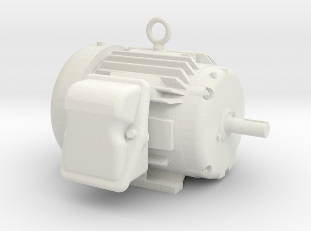 Electric Motor - Hollow in White Strong & Flexible