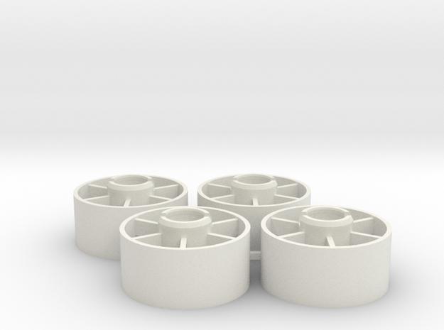 Mini-z Front Wheels 19 5 +2 in White Strong & Flexible