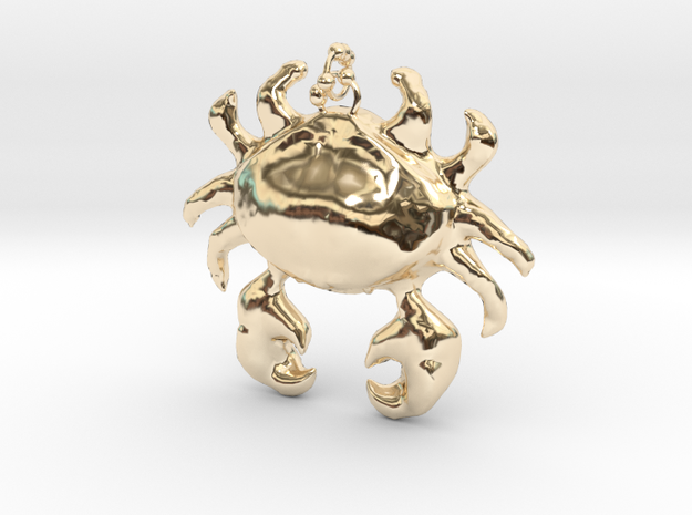 Crab Necklace in 14k Gold Plated