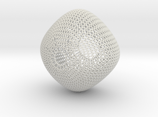 Chandelier (round honeycomb) 3d printed