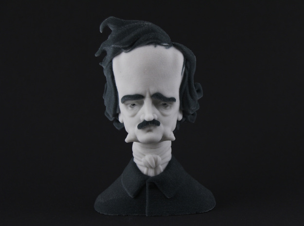 Edgar Allan Poe Caricature in Full Color Sandstone