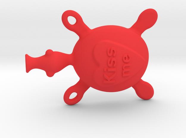 Turtle kissing in Red Processed Versatile Plastic