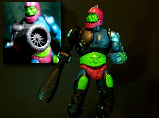 TrapJaw Rocket Arm Attachment 3d printed Figure Not included, just the rocket Attachment