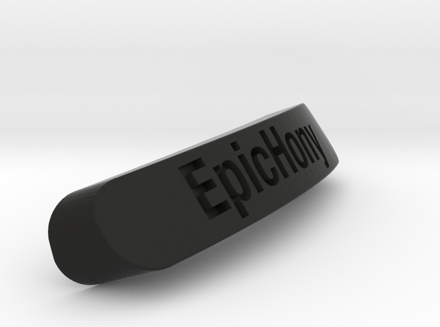 Epichony Nameplate for SteelSeries Rival in Black Strong & Flexible