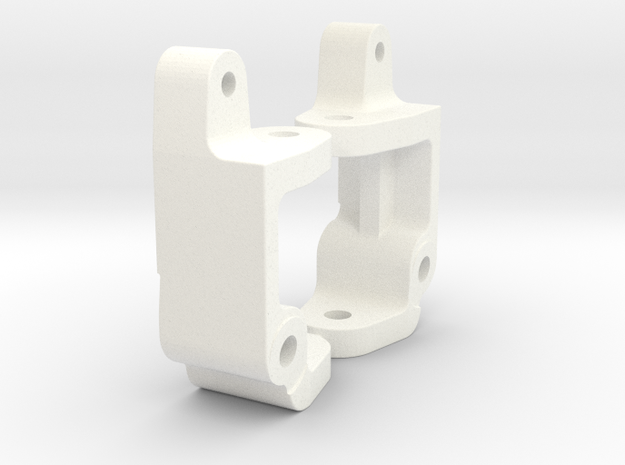 '91 Worlds Conversion - Caster Blocks -5 degree in White Processed Versatile Plastic