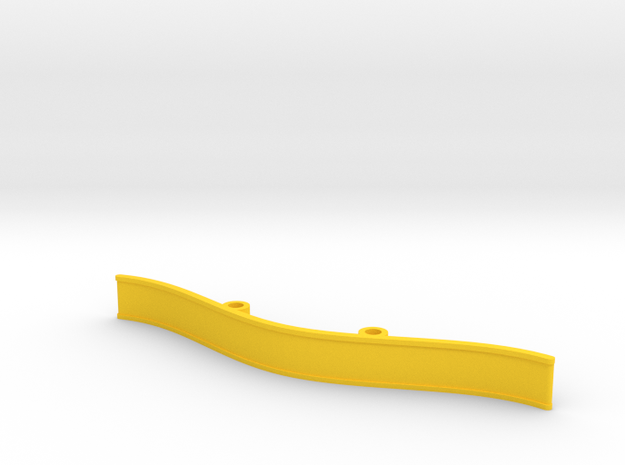 ZMR250 Bumper V4 in Yellow Processed Versatile Plastic