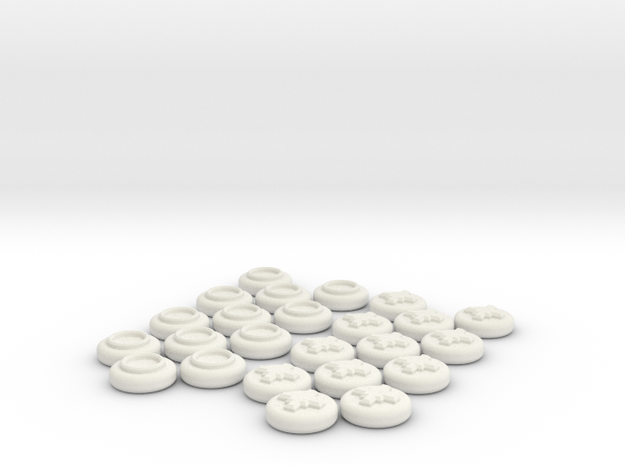 Checkers Set in White Natural Versatile Plastic