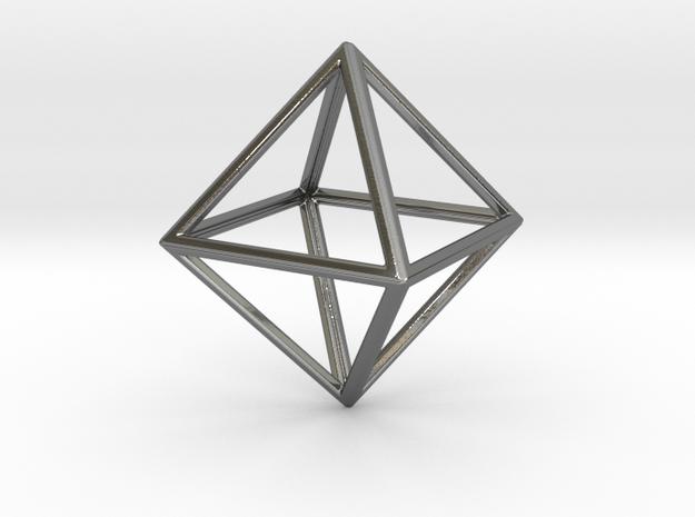 OCTAHEDRON (Platonic) in Premium Silver