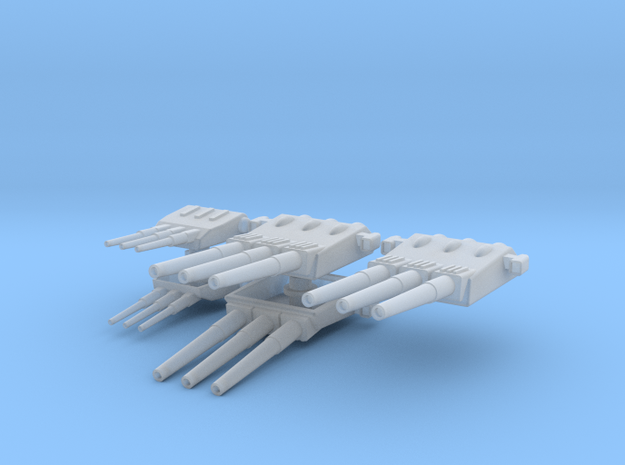 1:700 Non-Elevated Yamato Turrets in Smooth Fine Detail Plastic