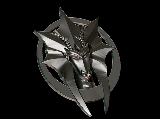 Dutch Dragons Pendent 3 3d printed Front view