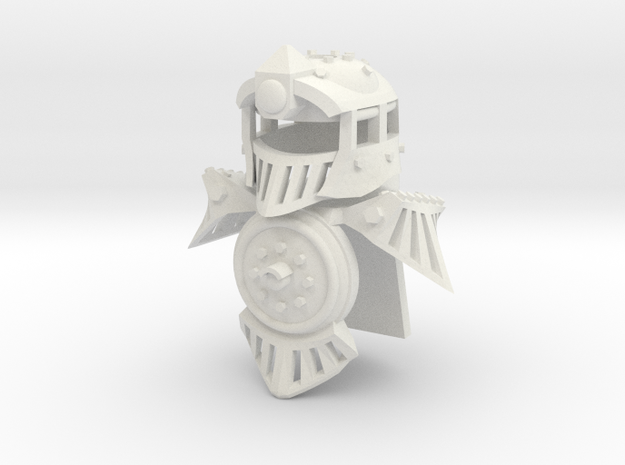 Minifig Locomotive Armor Set in White Natural Versatile Plastic