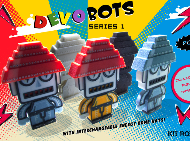 DevoBot Series 1 B/W with Glasses Mark Mothersbaug 3d printed