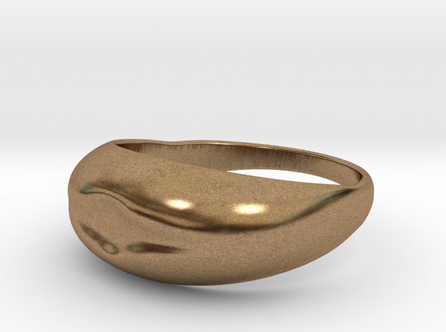 Simple Ring Design in Natural Brass
