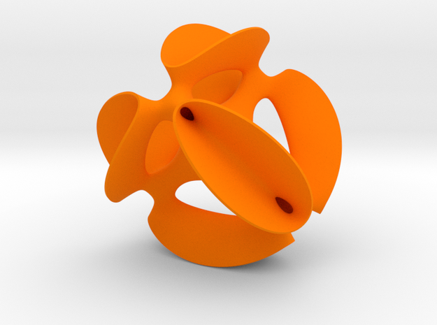 A smoothed Kummer Surface in Orange Processed Versatile Plastic: Small