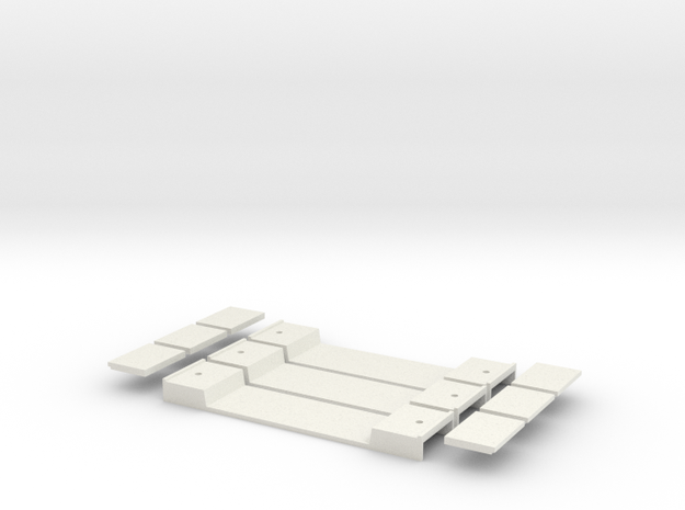 Base Carriage #7 3 Pack in White Natural Versatile Plastic