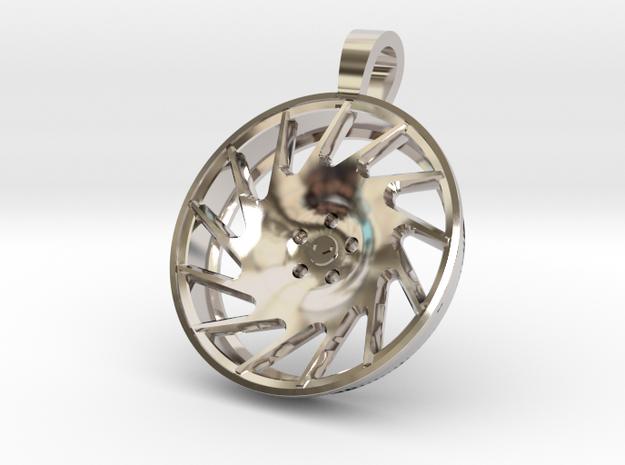 Vossen VLE1 KeyChain in Rhodium Plated Brass