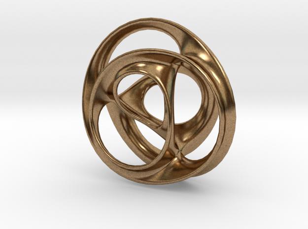 Scherk-Collins Earring in Natural Brass