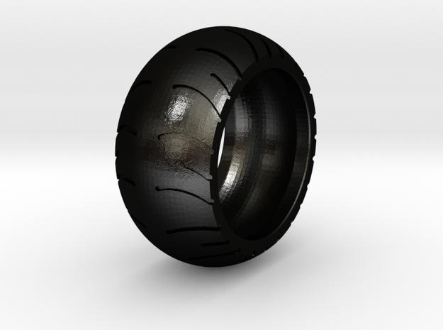 Chopper Rear Tire Ring Size 8 in Matte Black Steel