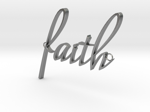 Faith Connector in Natural Silver