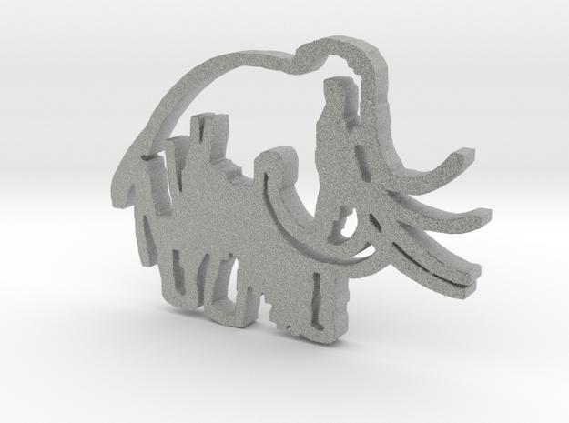 Caveman-designed Caveman Diet Keychain in Metallic Plastic