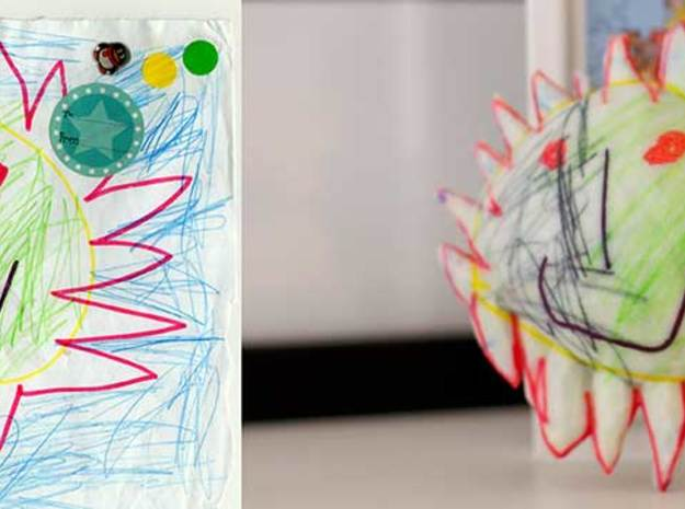 The Sun 3d printed Figurines from Children's Drawings