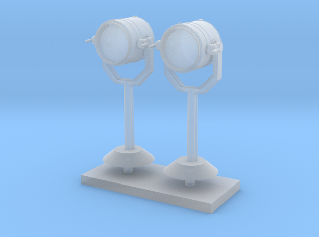 1:72 scale Search Light on stand in set of 2 in Smooth Fine Detail Plastic