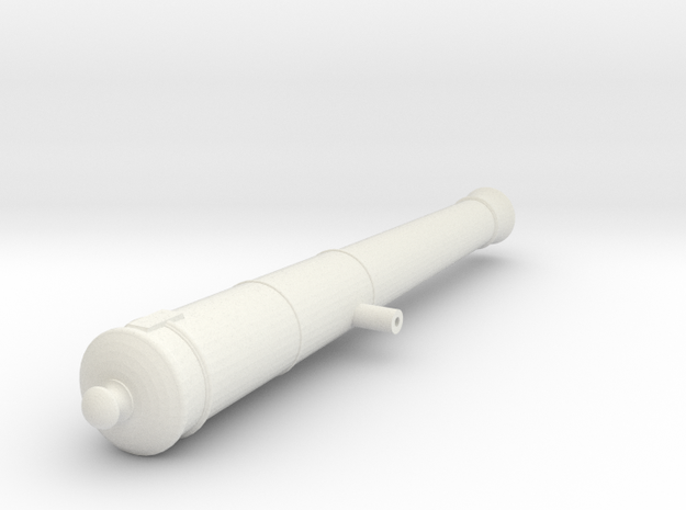 6lb Long Gun in White Natural Versatile Plastic