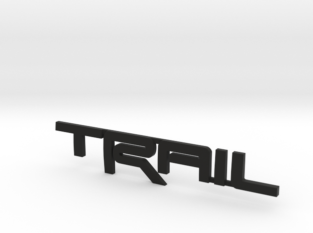 Trail Emblem Revision 02 in Black Natural Versatile Plastic