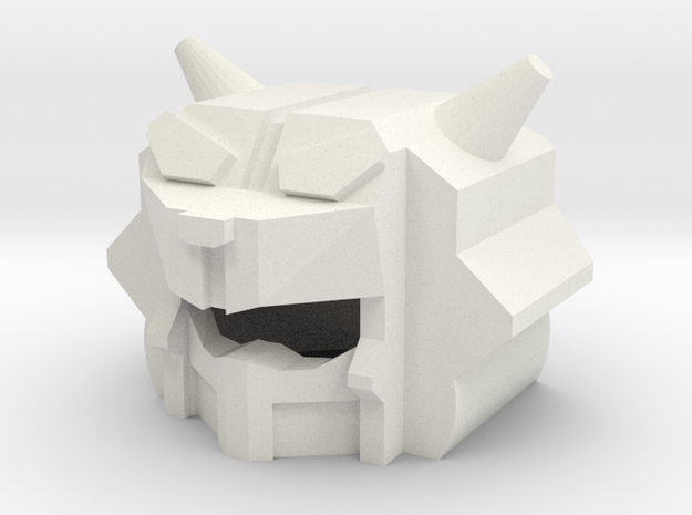 Robohelmet: King Cat in White Natural Versatile Plastic
