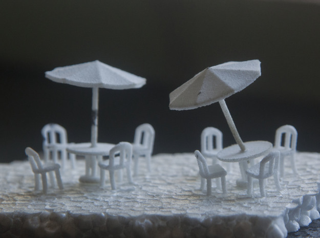 Sidewalk Cafe Set x4, HO Scale (1:87)
