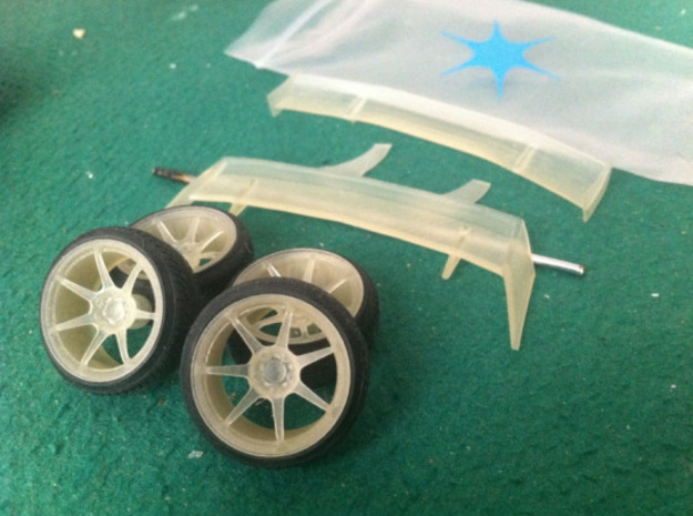 Nissan PS13 1/24 Rims and Wings pack in Frosted Ultra Detail