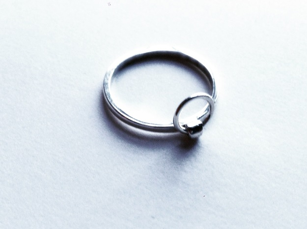 Horse Tie Ring - Sz. 6 in Fine Detail Polished Silver
