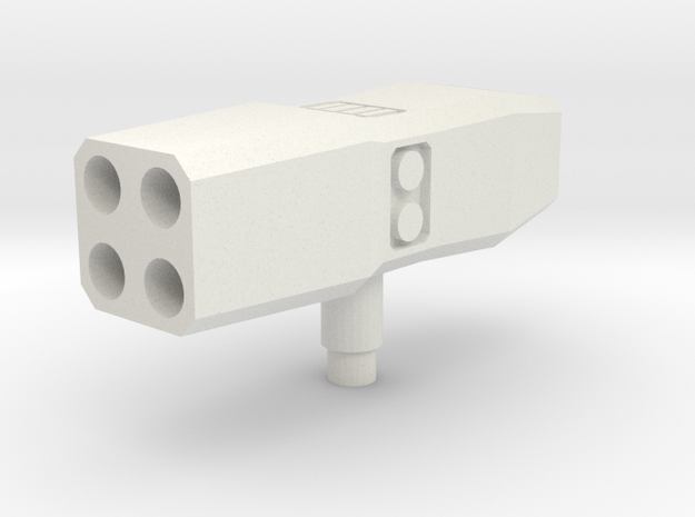 Rocket Lancher Mk2 in White Natural Versatile Plastic
