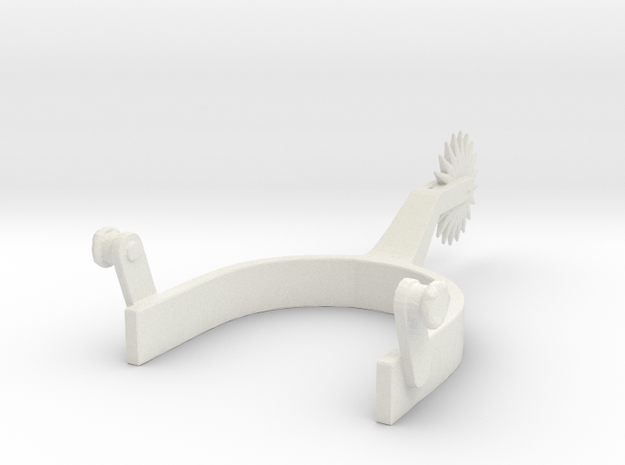 cowboy Boot Spur 1/6 scale in White Strong & Flexible