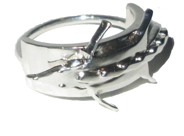 Fox Stole Ring - Sz. 6 in Fine Detail Polished Silver