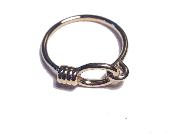 Rope Chain Ring - Sz. 7 in 14K Yellow Gold